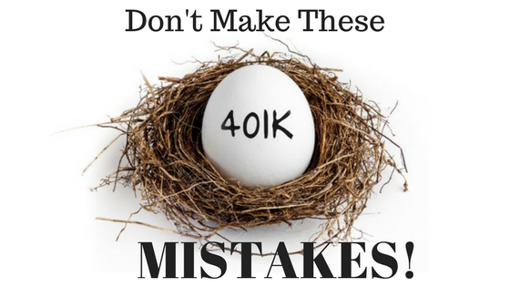 Five BIG 401(k) Mistakes to Avoid.